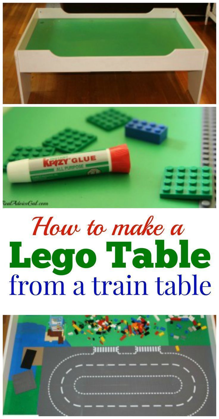 DIY Lego Table: Make This Easy Upcycled Lego Table From A Train Table In  Just