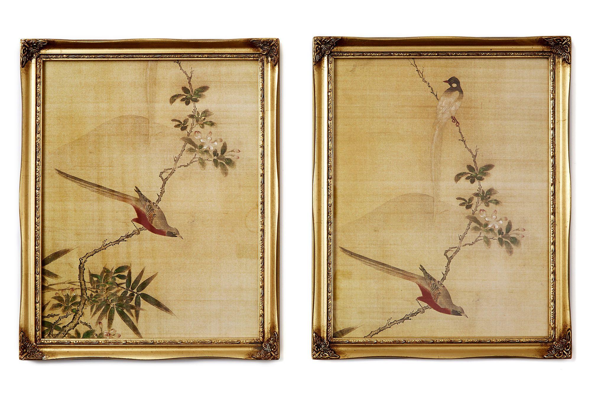 One Kings Lane, Asian Birds, Set of Two | Desiree\'s Living Room ...