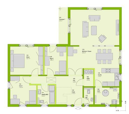 Lifestyle 17 floorplan 1 grundriss bungalow in 2019 for Toskana haus bauen grundriss