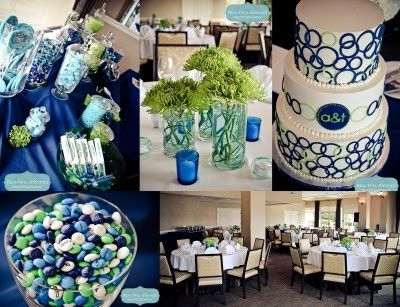 Pink Blossom Events, Woodmark Wedding, Blue and Green