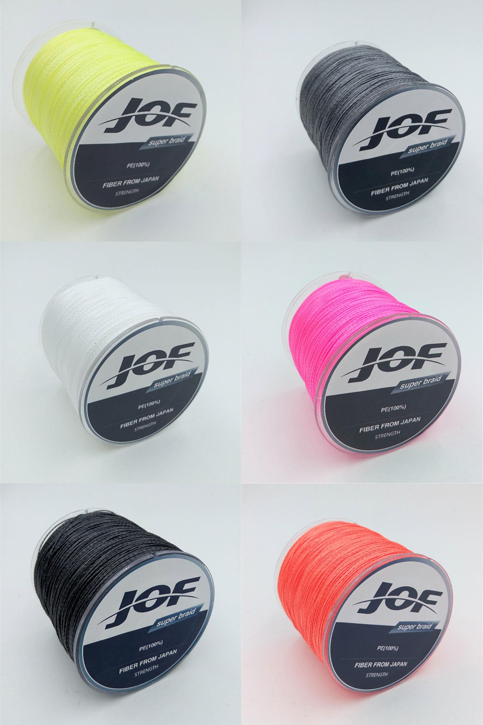 [Visit to Buy] 2016 New JOF Brands Multifilament PE Braided Line 1000meters Super Strong fishing line 4 Stands 10LB-100LB Fishing Ropes #Advertisement