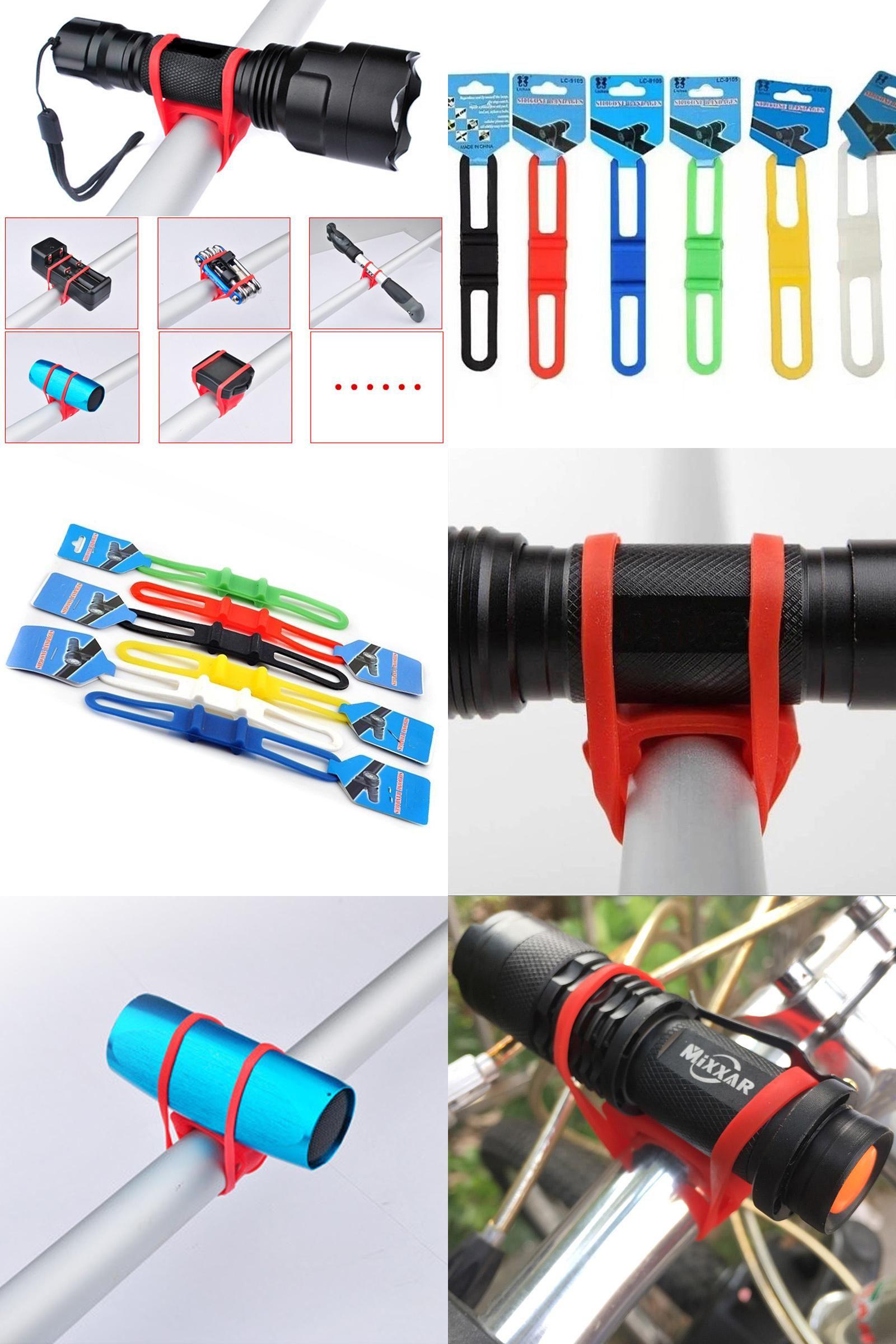 Torch Phone Flashlight Light Holder Silicone Strap Fixing Elastic Bike Bandages