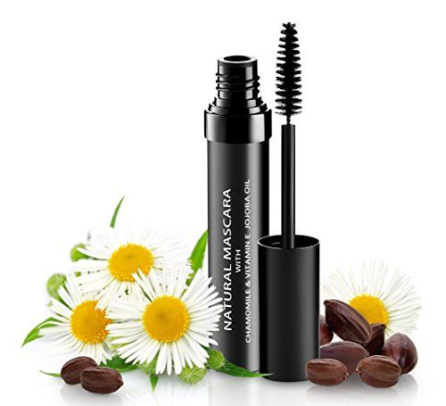Natural Organic Mascara | 100% Natural Enriched With Chamomile, Vitamin E, Jojoba Oil | Vegan & Gluten Free, Nourishes and Conditions | Cruelty Free Hypoallergenic Safe For Sensitive Eyes #jojobaoil