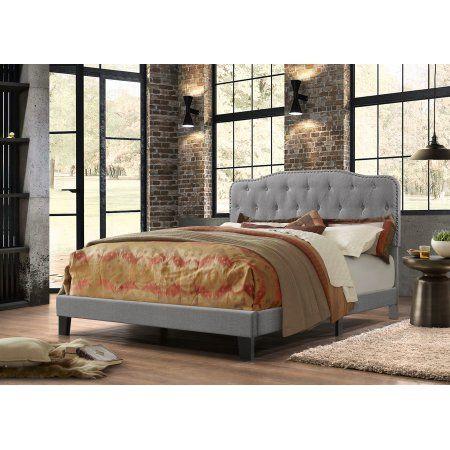 Best Quality Furniture Linen Panel Bed Multiple Sizes Colors Kidsbedroomfurniture