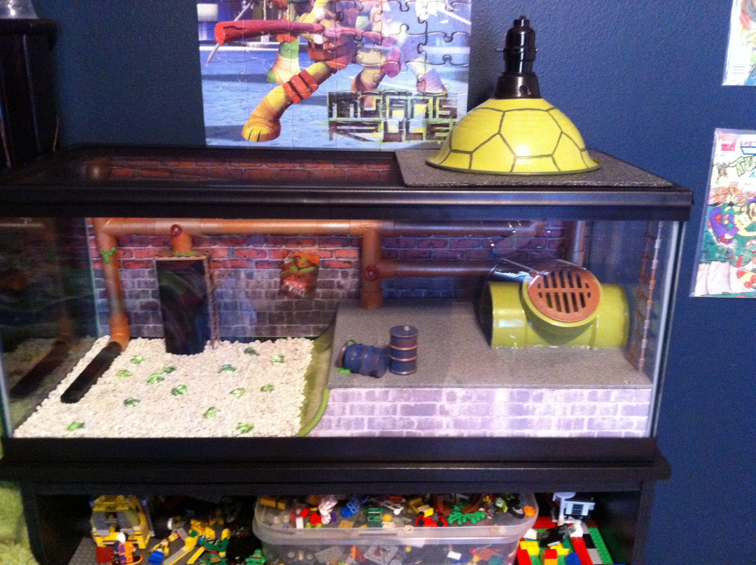 Fish tank in bedroom - Ninja Turtle Aquarium