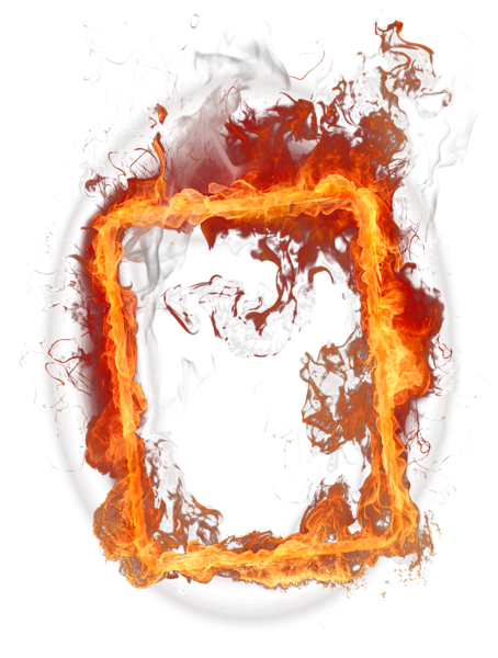 Fire Frame Png Clipart Blue Background Images Png Images Love Background Images