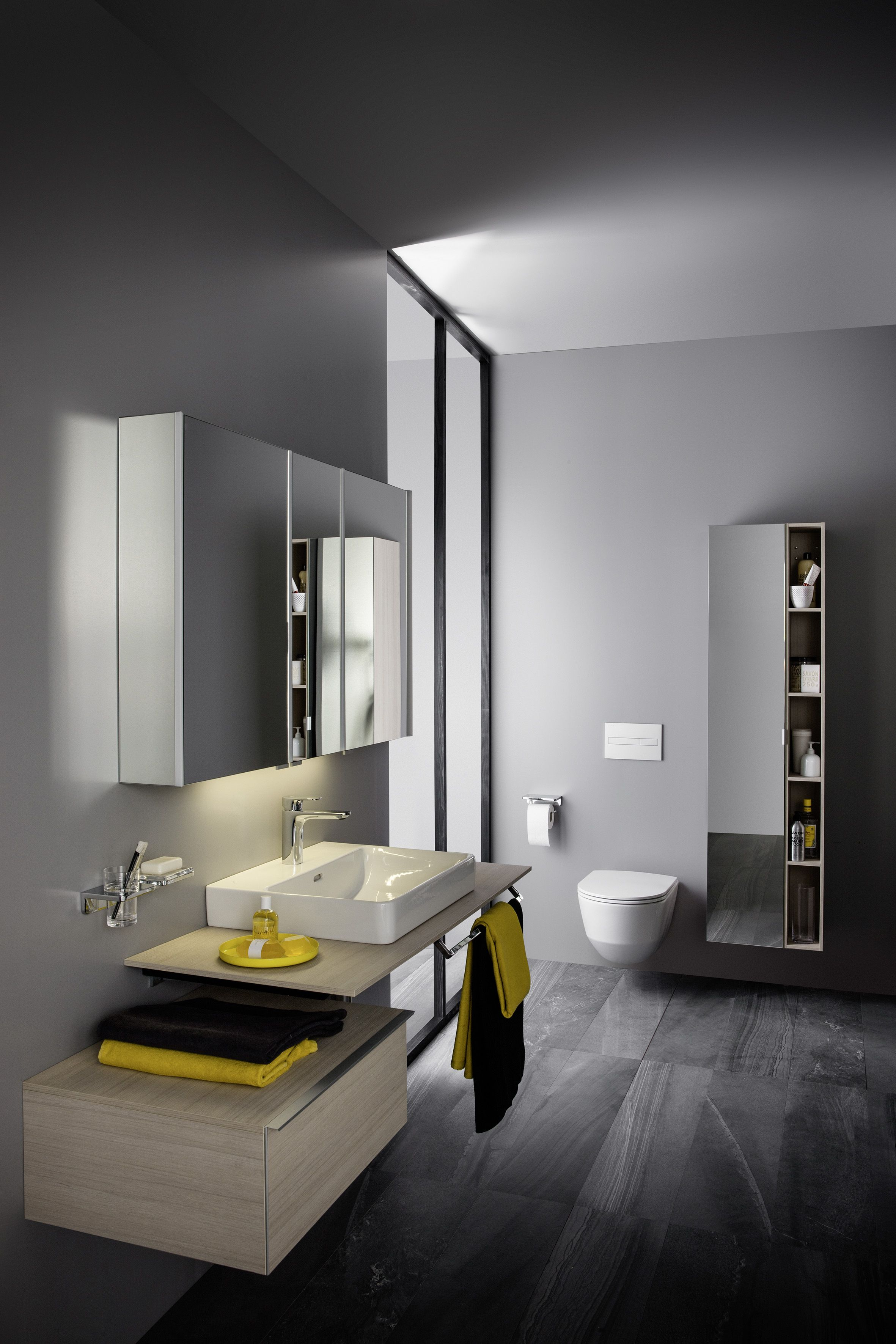Mobilier De Salle De Bain Bois Clair SPACE De Laufen Plan Vasque - Plan sous vasque salle de bain