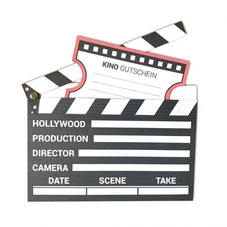 Kinogutschein als Filmklappe basteln   mini-presents Blog #kinogutscheinbasteln