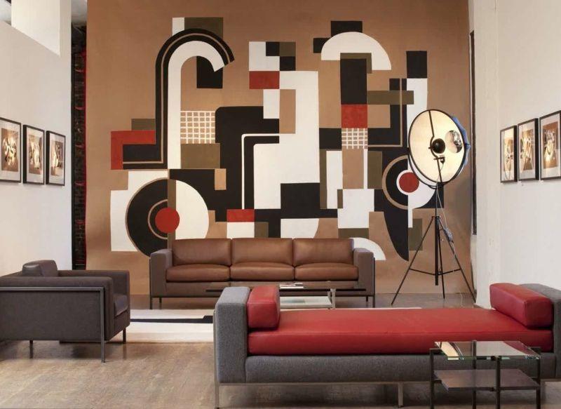 #wohnzimmer Wandgestaltung In Braun U2013 50 Wohnzimmer Wohnideen  #Wandgestaltung #in #Braun #