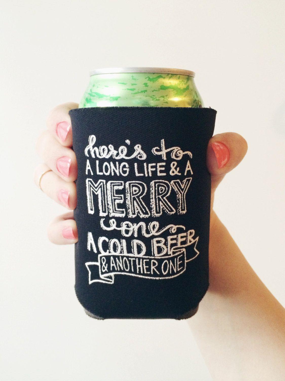 Chalkboard Print Beer Koozies Irish Toast