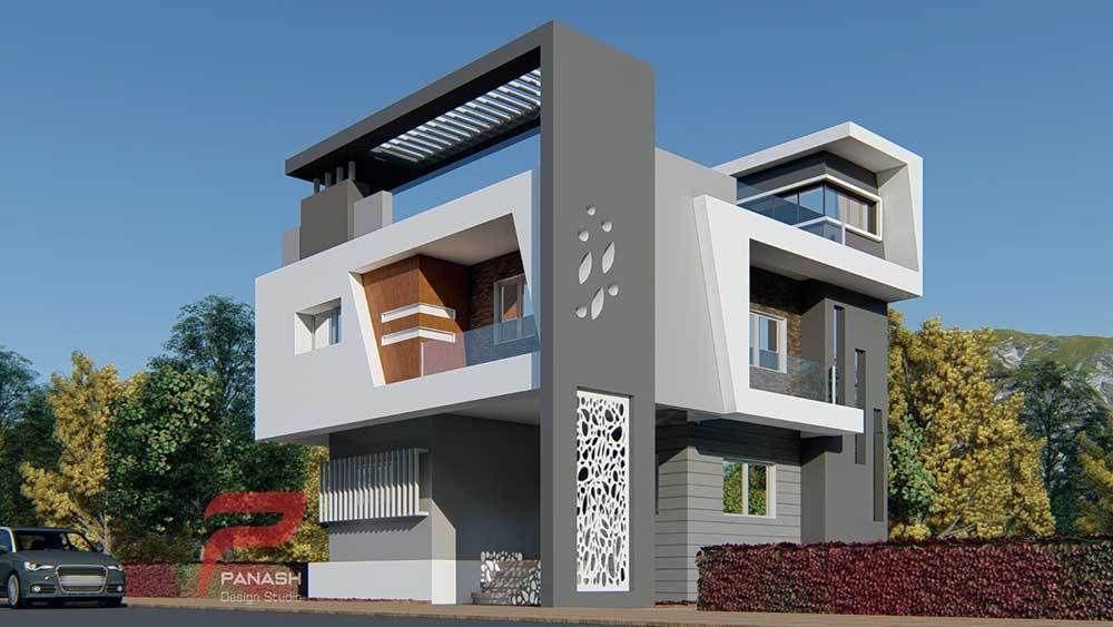 Residential Elevation Panash Design Studio Small House Elevation Design Duplex House Design House Outer Design