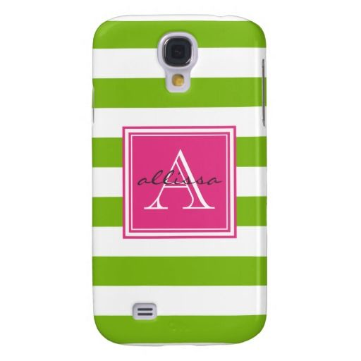 ==>Discount Spring Green Monogrammed Awning Stripe Samsung