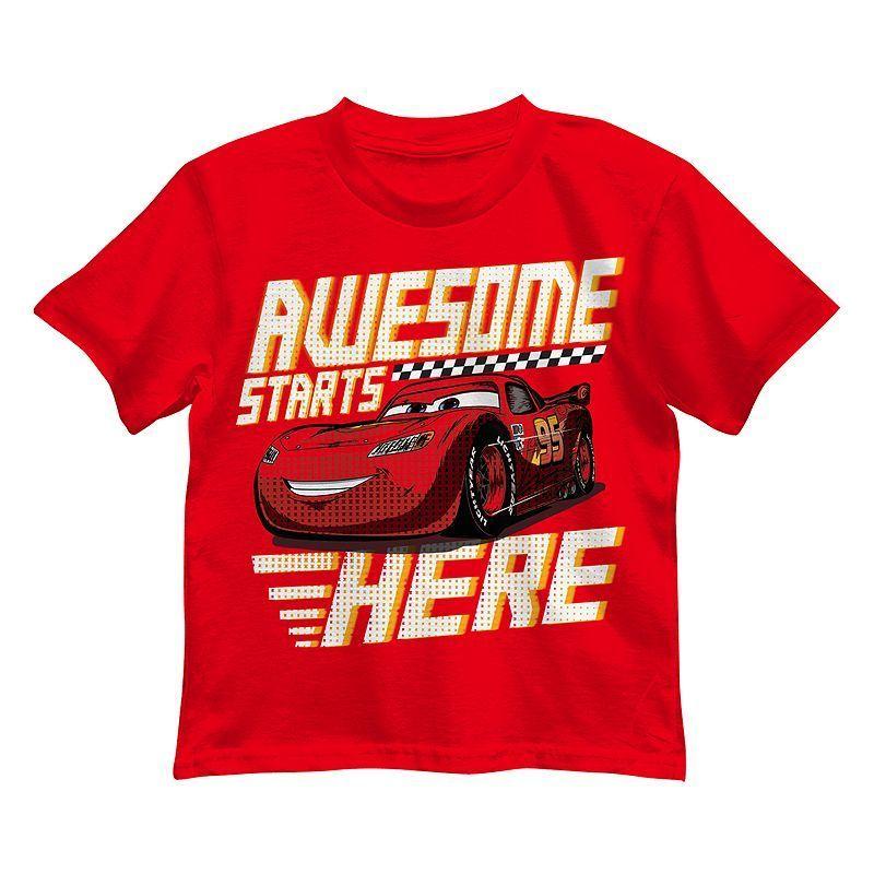 DISNEY CARS Garçons T-shirt Lightning McQueen