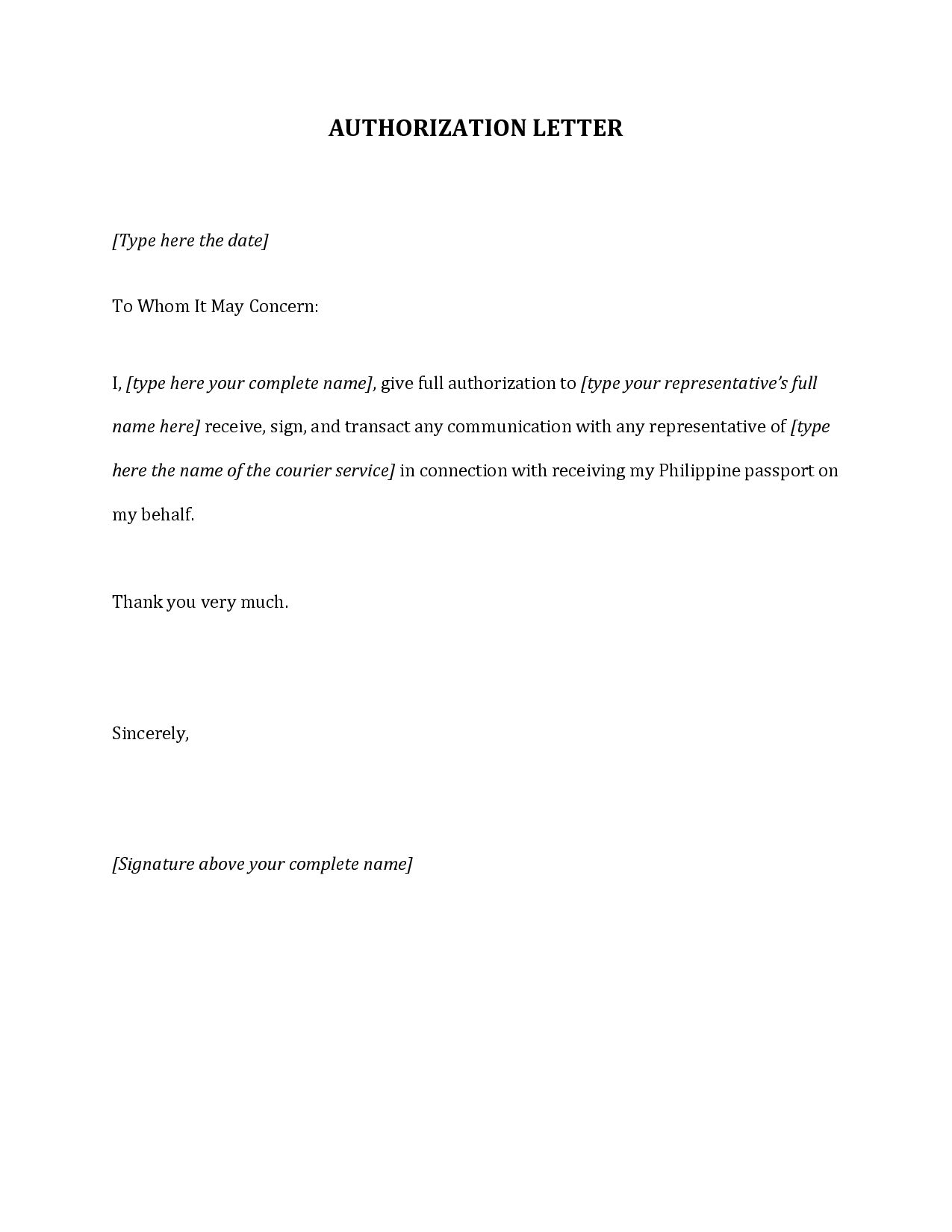 Authorization Letter Bank Sample Format Amp Write The Best Resume