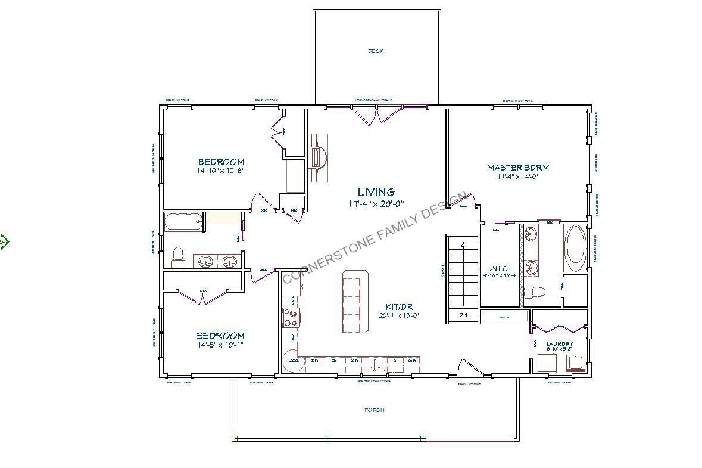 34x54 Kit In Front Jpg 1 179 785 Pixels Pole Barn House Plans House Plans Farmhouse House
