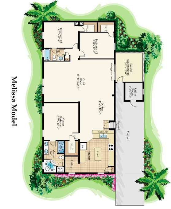 Floor Plan Of 2005 Nobility Mobile / Manufactured Home In