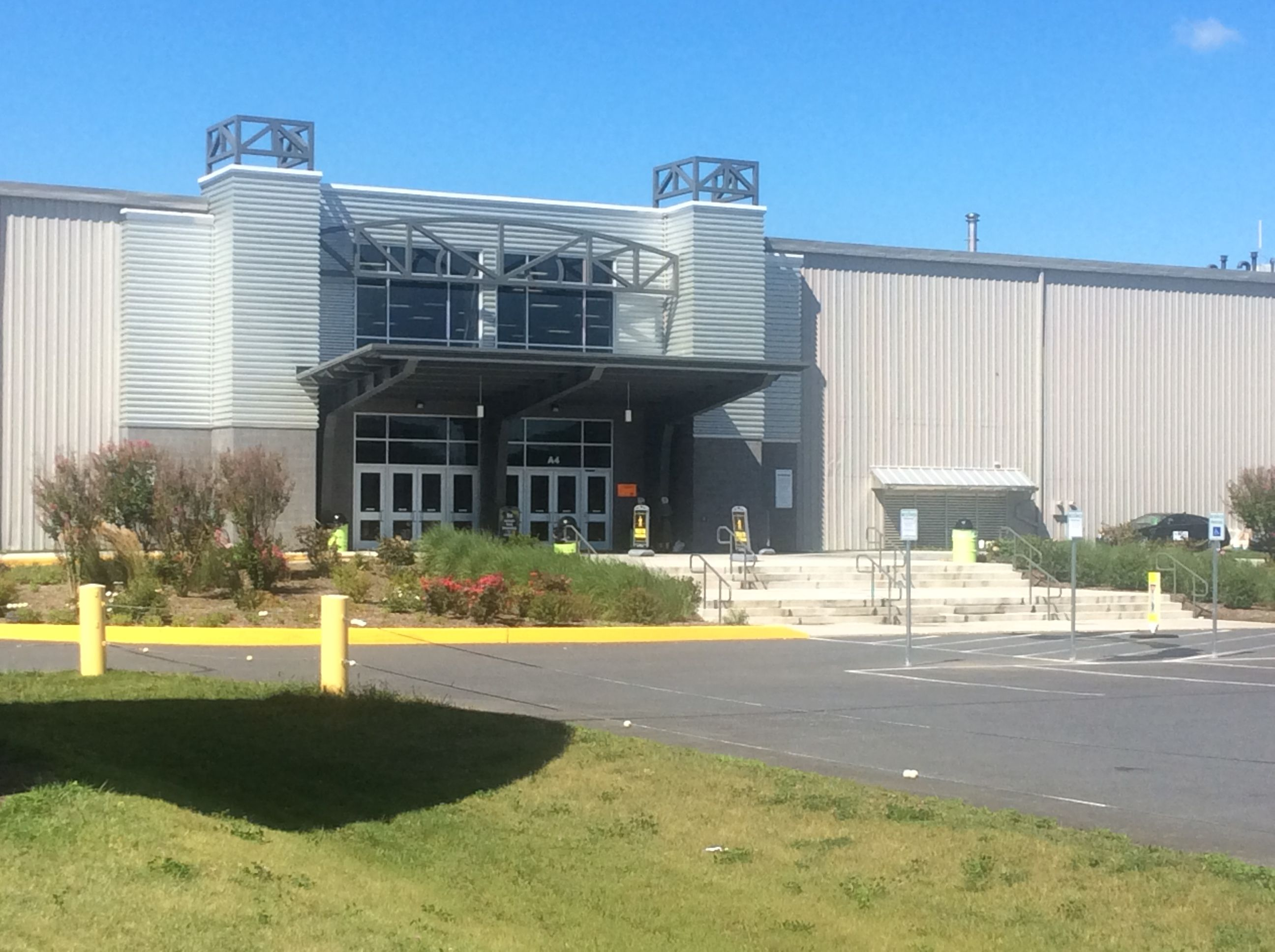This Is The Main Entrance To The Sports Complex You Can Spot The Logo From Almost Everywhere In The Front Half Spooky Nook Sports Main Entrance Sports Complex