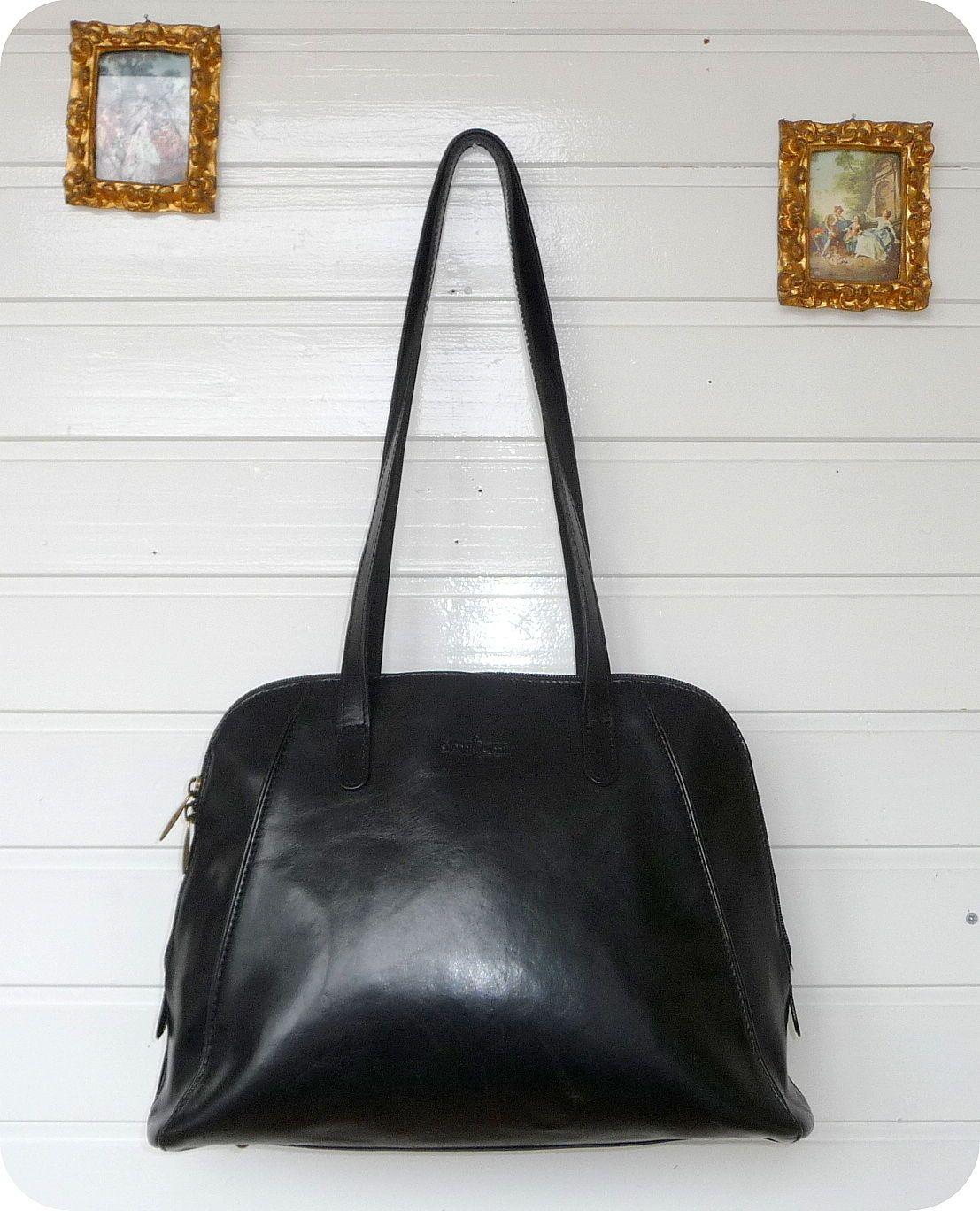 GIANNI CONTI Luxus XL Leder Handtasche Leather Bag