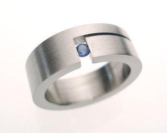 Homme Mariage Bijoux Gothique son /& son couple anneaux anneau acier Set Titane
