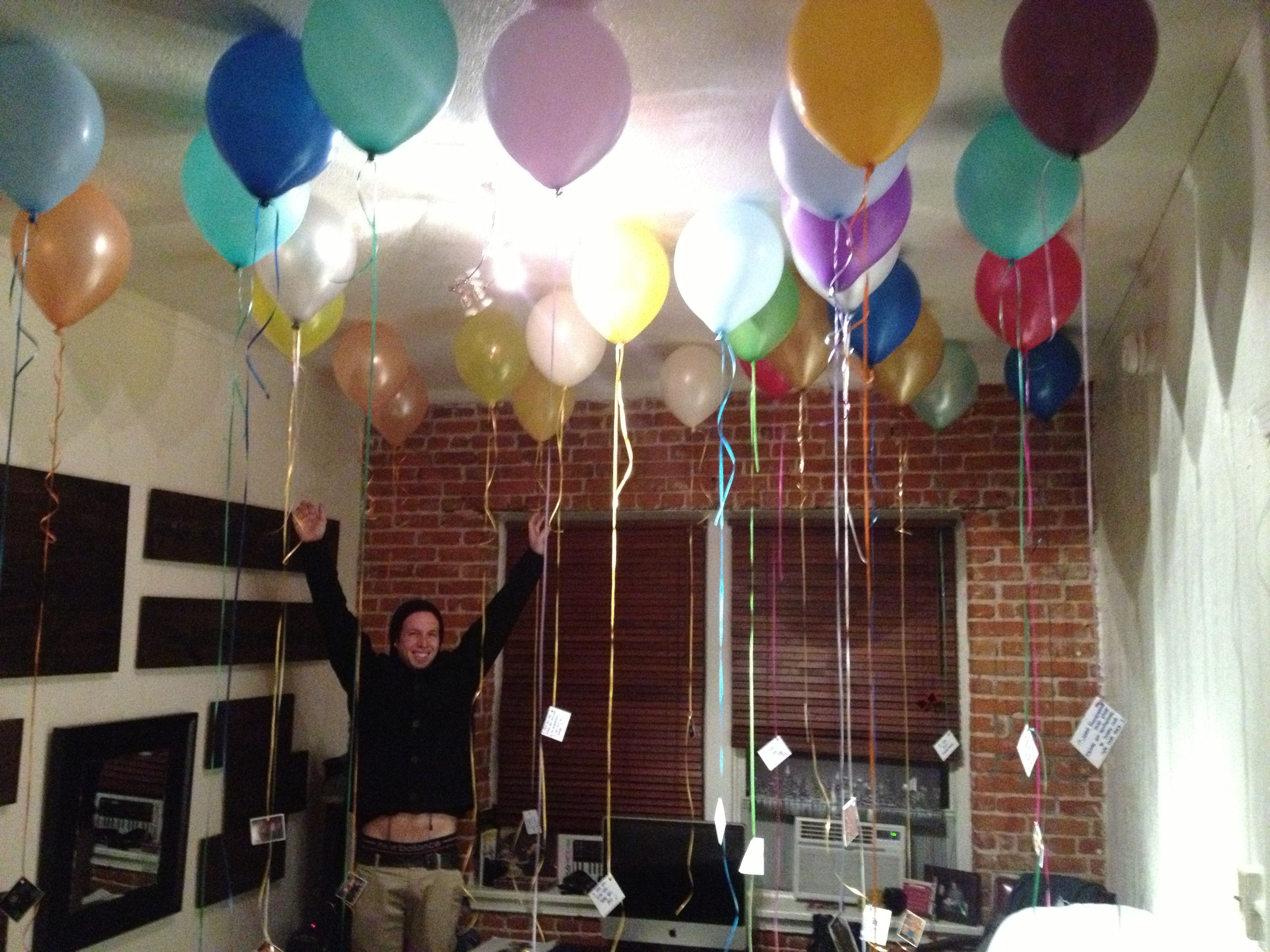 surprise birthday! for my boyfriend 26th birthday i filled his room