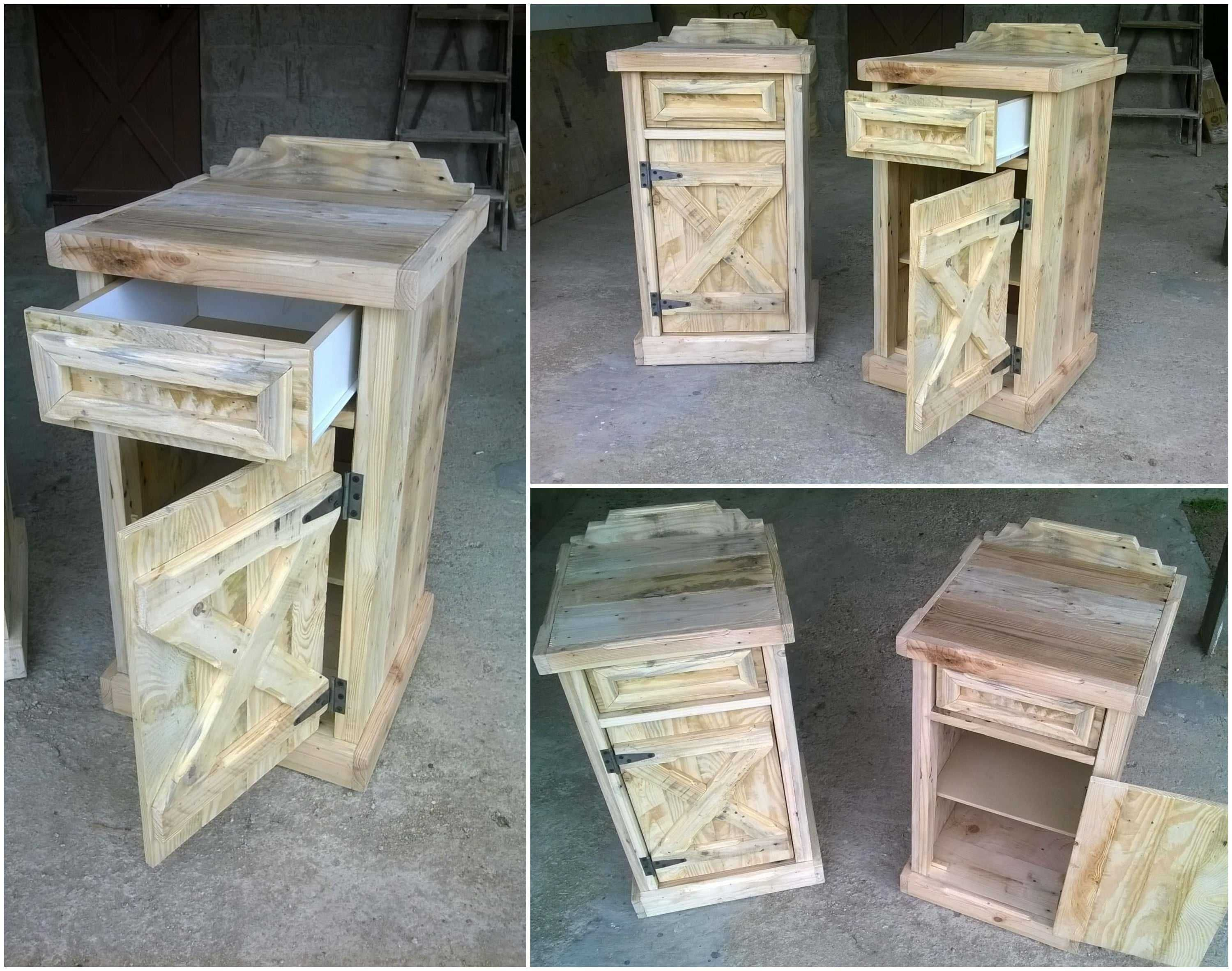 pallet bedside tables wooden pallets repurposed and pallets