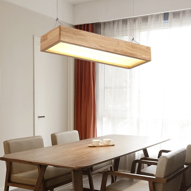 A1 Japanese Chandelier Solid Wood Lamp Office Led Living Room Lamp Magnificent Light Dining Room Decorating Design