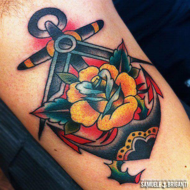 Samuele briganti anchor tattoos pinterest tattoo for American anchor tattoo