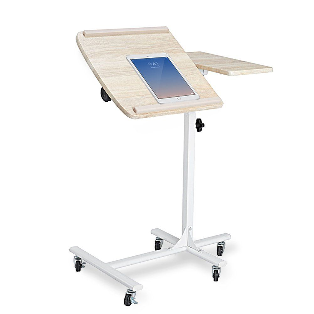 Coavas Table De Lit Pour Ordinateur Portable Reglable En Hauteur Sur 5 Niveaux Avec Roues Drafting Desk Decor Desk