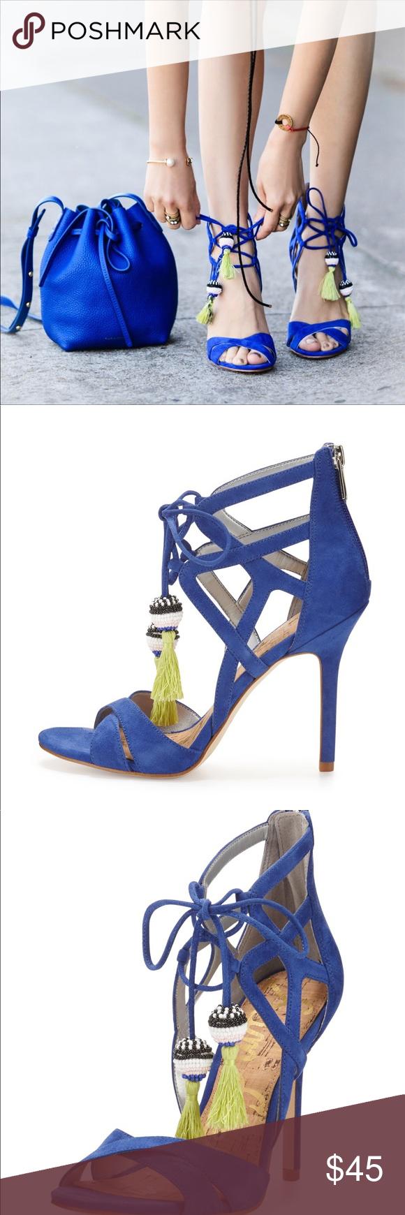abfd021a884c Sam Edelman Azela Strappy Tassel Sandal Sam Edelman Azela Strappy Tassel  Sandal in Sailor Blue Suede