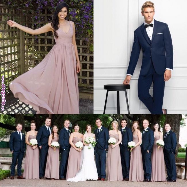 Image Result For Navy Groomsmen Purple Bridesmaids Bridesmaids Dresses In 2018 Pinterest We Wedding Bridesmaids Blue Bridal Parties Colors Wedding Colors