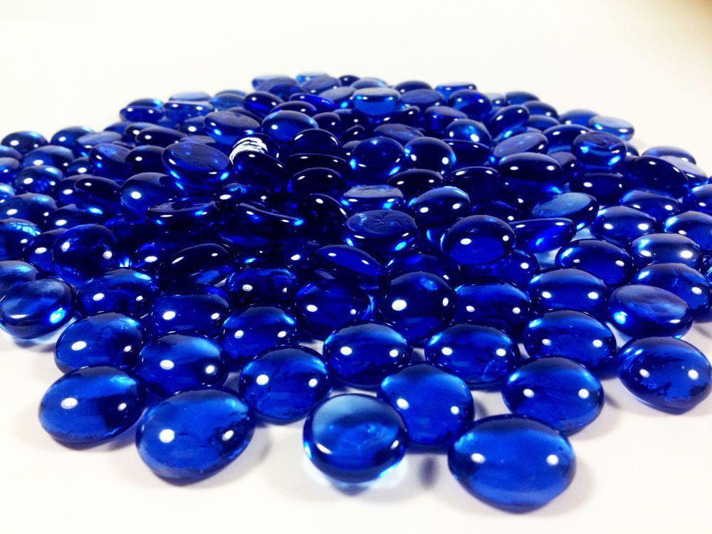 Clear Glass Pebbles Aquarium Vase Filler 24-lbs Flat Marble