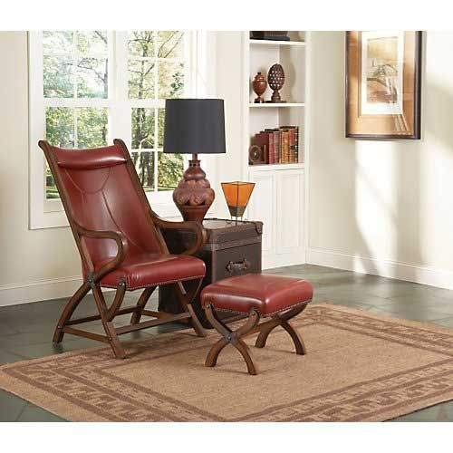 Largo Hunter Chair and Ottoman in Red Leather Largo http ...
