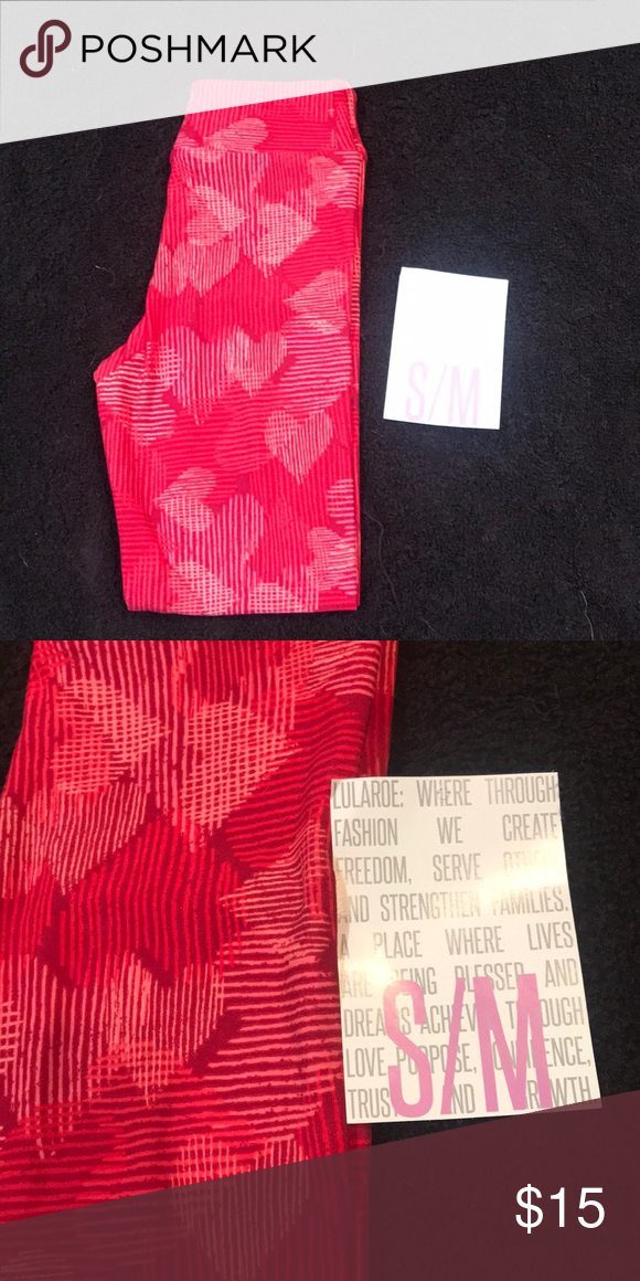 b4b0bb38d3f136 LuLaRoe S/M Kids Leggings Vintage Valentines Day LuLaRoe S/M Kids Leggings. Vintage  Valentines Day. BNWT. Smoke free, pet friendly home.