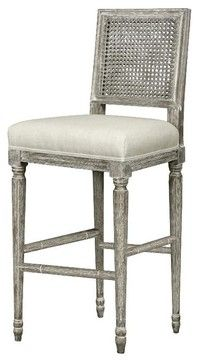 Amazing Bungalow 5 Annette Barstool In Gray Limed Oak Traditional Unemploymentrelief Wooden Chair Designs For Living Room Unemploymentrelieforg