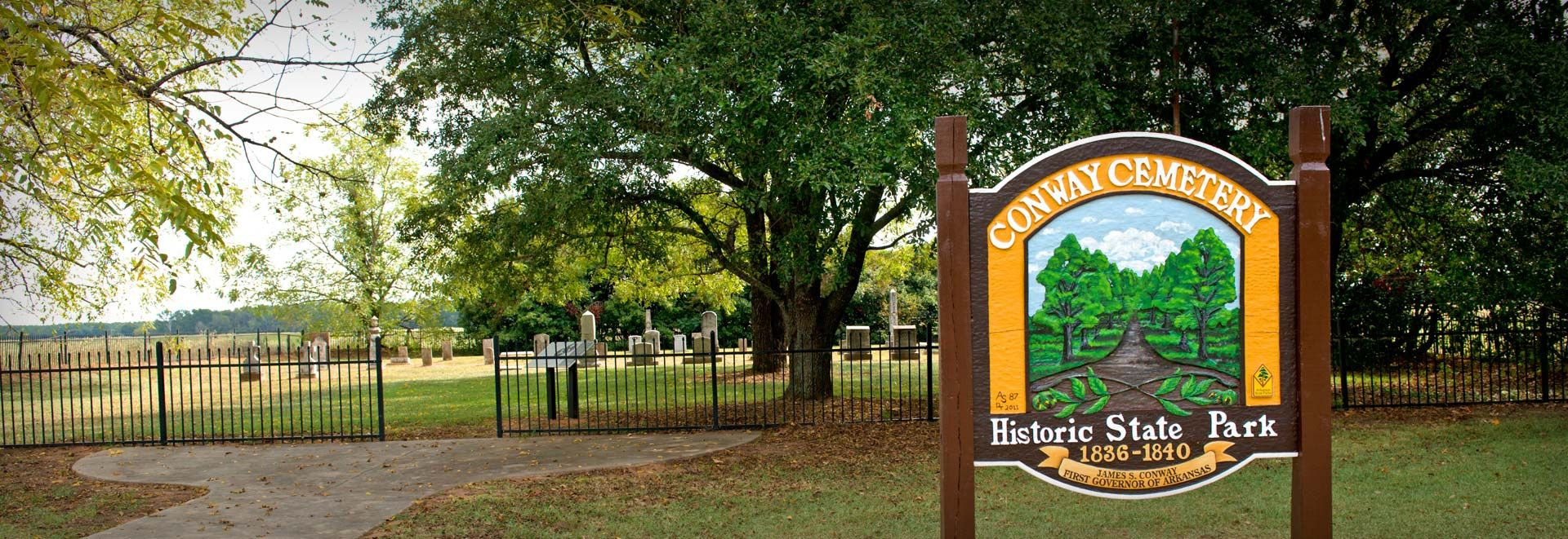 Conway Cemetery State Park in Lafayette County, Arkansas