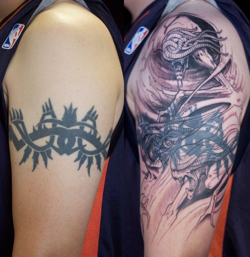 Band tattoo cover up ideas tribal armband tattoo cover ups for Tribal tattoos for cover up