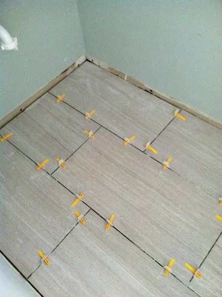 Then Came The Laying Of The Tile Large Format Tiles Are