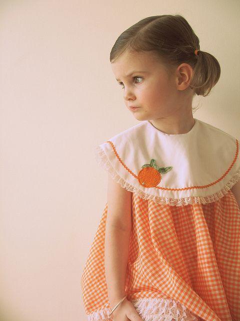 vintage orange dress by lottielulu, via Flickr