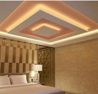 False ceiling modern decorating ideas bedroom bedsrcular interior design also beds rh pinterest