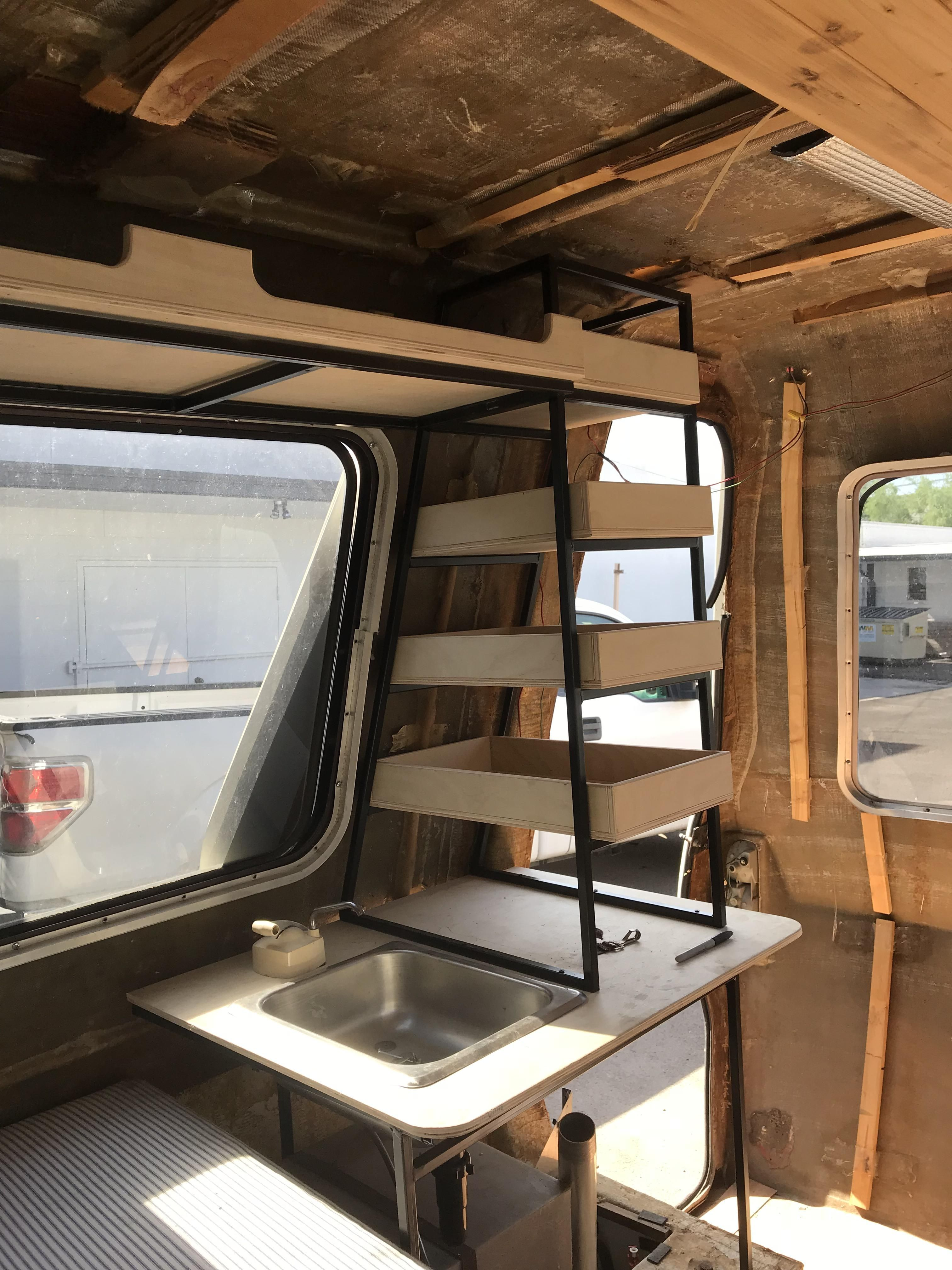 Installing Some Wood And Steel In A 78 Chinook Camper