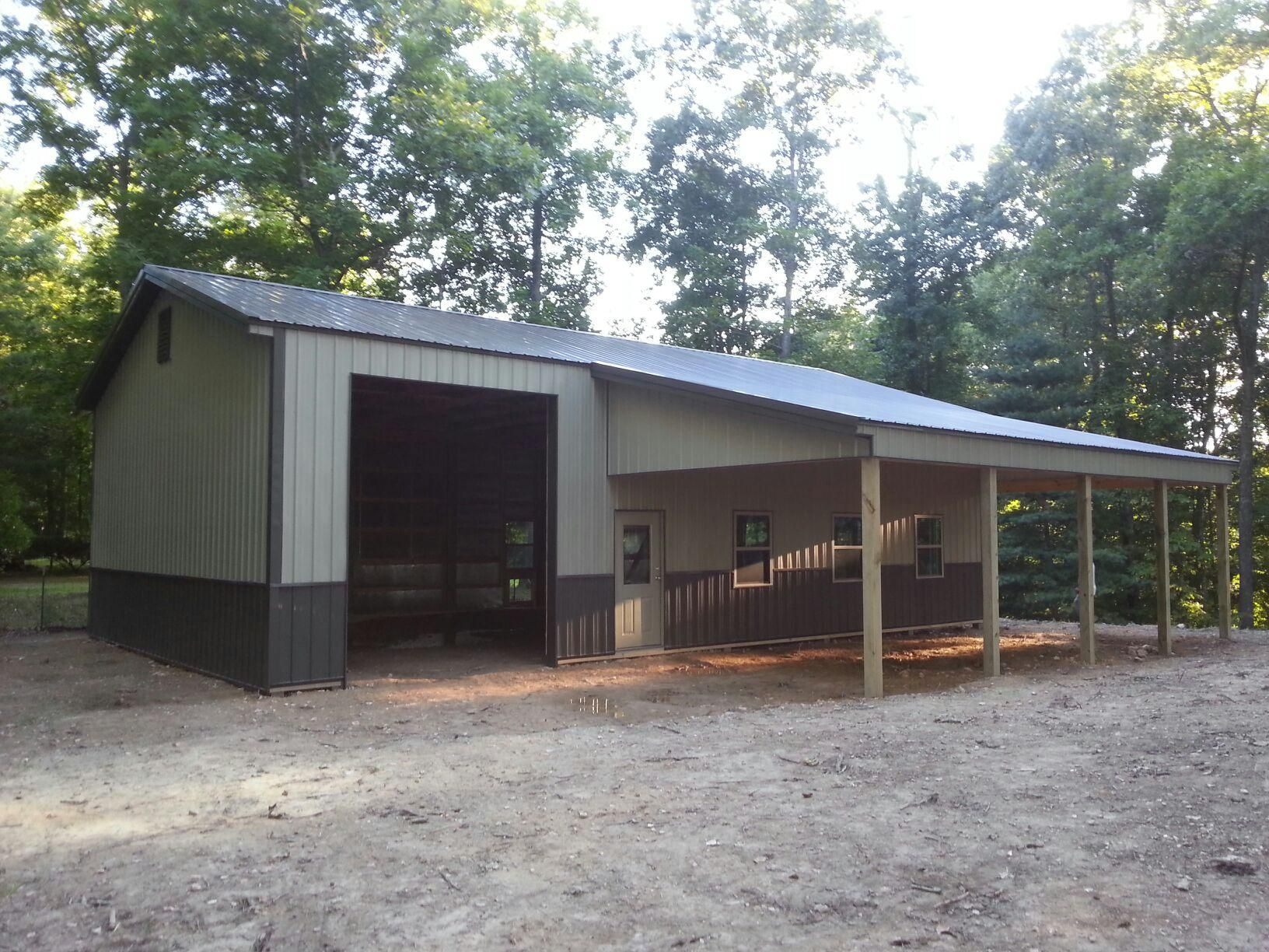 30x48x14 With 16x32 Shed Post Frame Building Www Nationalbarn Com Shed Building Plans Building A Shed Shed