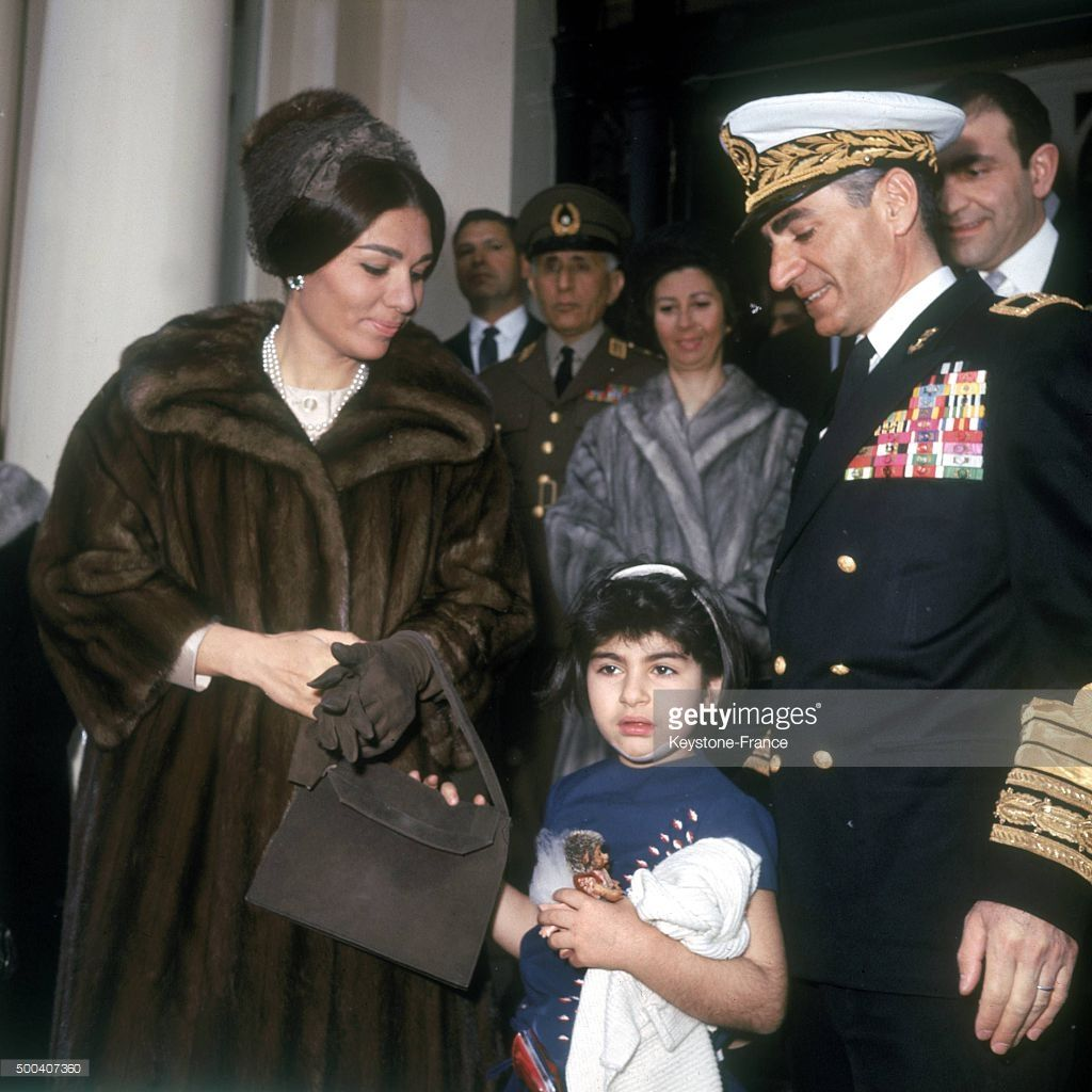The shah of iran mohammad reza pahlavi and his wife queen for Shah bano farah pahlavi