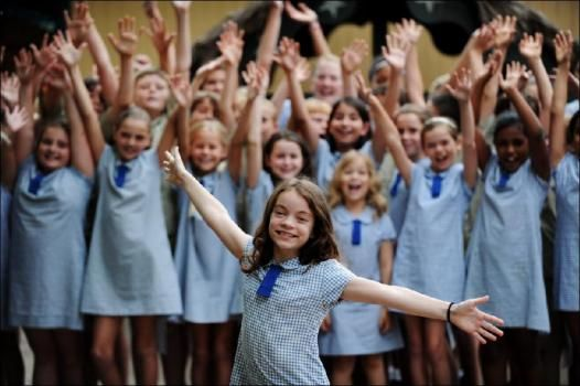 Harmony Lovegrove, 11, sings with her class at Seaforth Public School, She will perform on Young Talent Time TV show. Picture: Braden Fastier, of The Manly Daily.
