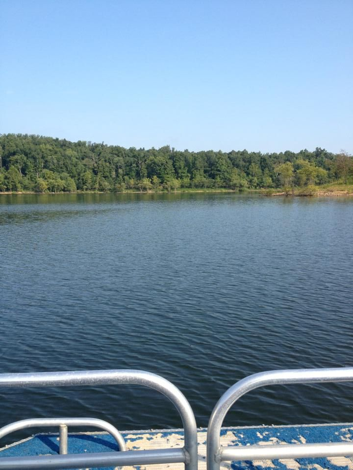 Boating and tubing at rough river dam state resort park