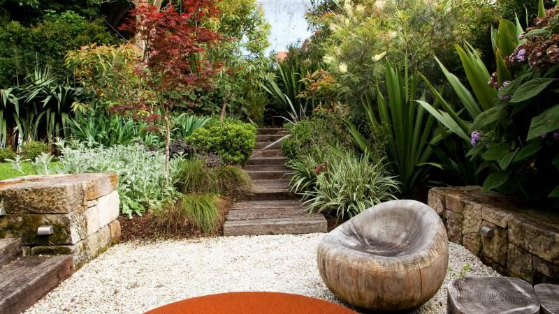 garden-steps-pebbles-may15 | Garden designs | Pinterest | Gardens ...