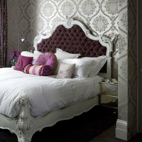 graue figuren für tapeten im schlafzimmer - 30 interessante - tapeten design schlafzimmer