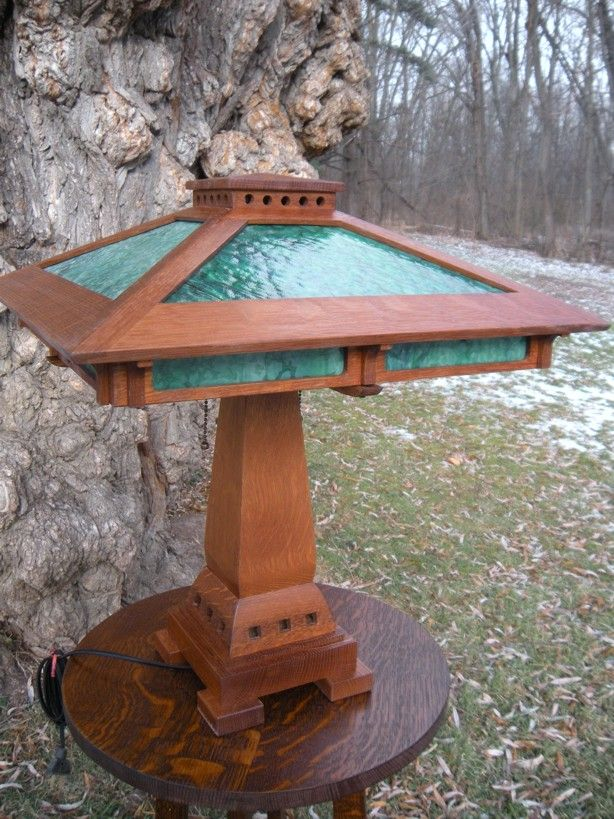 Prairie craftsman table lamp prairie craftsman table for Prairie craftsman