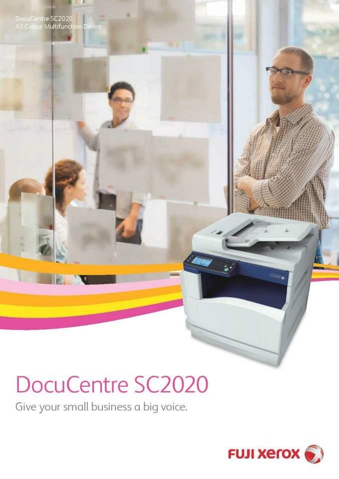 New Fuji Xerox Sc2020 A3 Colour Laser Multi Function Printer The