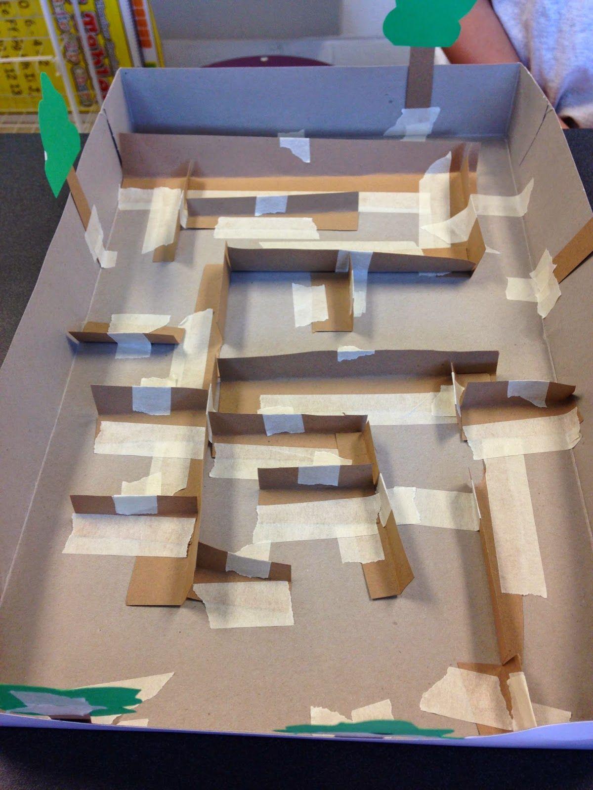 Stem Challenge Marble Maze Stem Engineering Stem Challenges Marble Maze