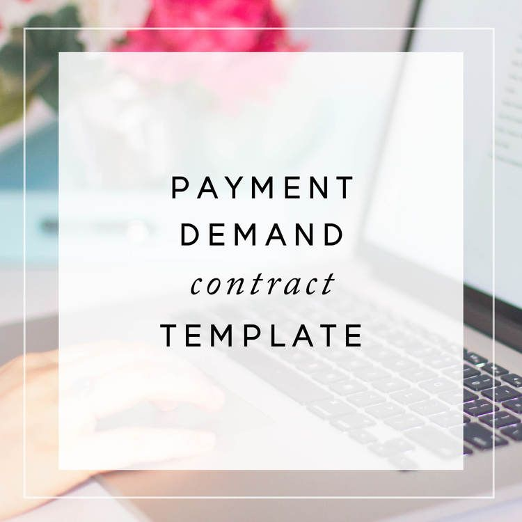 Payment Demand Contract Template from The Contract Shop - contract template